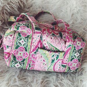 VERA BRADLEY | Pink & green small duffle style bag
